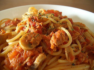 パスタレシピ:トマトソース系パスタ:スパゲッティ